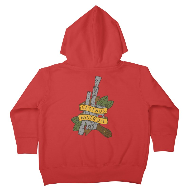 Legends Never Die Kids Toddler Zip-Up Hoody by Rupertbeard