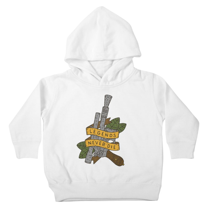 Legends Never Die Kids Toddler Pullover Hoody by Rupertbeard