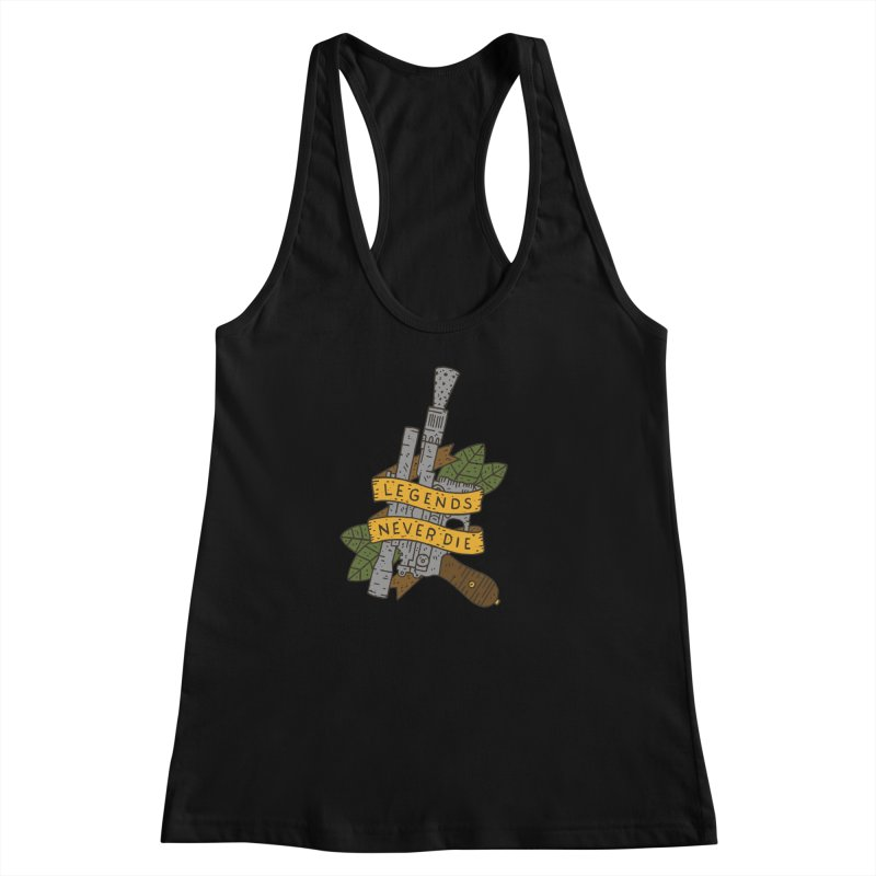 Legends Never Die Women's Racerback Tank by Rupertbeard