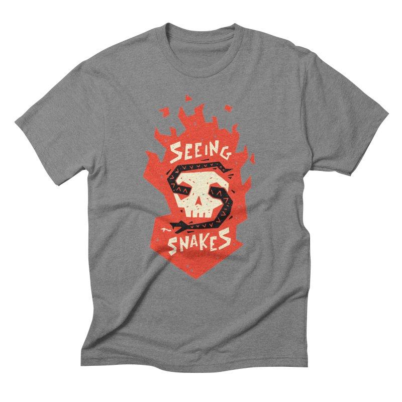 Seeing Snakes Men's Triblend T-Shirt by Rupertbeard