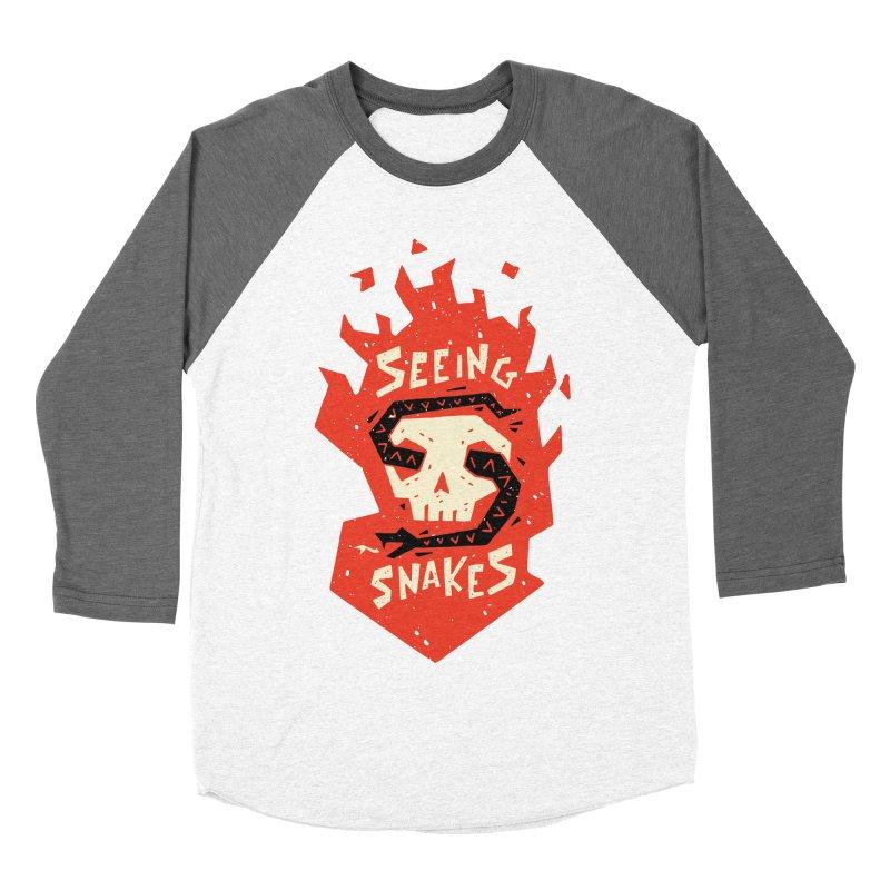 Seeing Snakes Women's Baseball Triblend T-Shirt by Rupertbeard