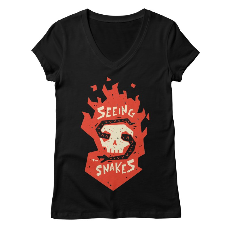 Seeing Snakes Women's V-Neck by Rupertbeard