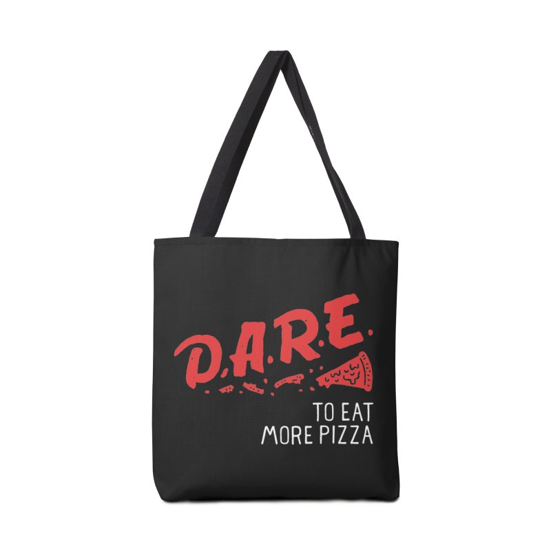 Dare to eat more pizza Accessories Zip Pouch by Rupertbeard