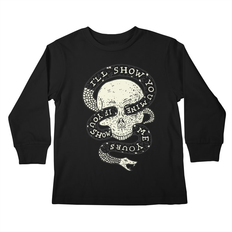 I'll Show You Mine If You Show Me Yours Kids Longsleeve T-Shirt by Rupertbeard