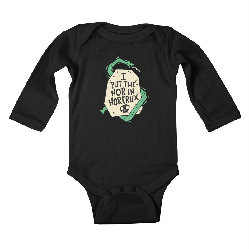 I Put The Hor In Horcrux Kids Baby Longsleeve Bodysuit by Rupertbeard