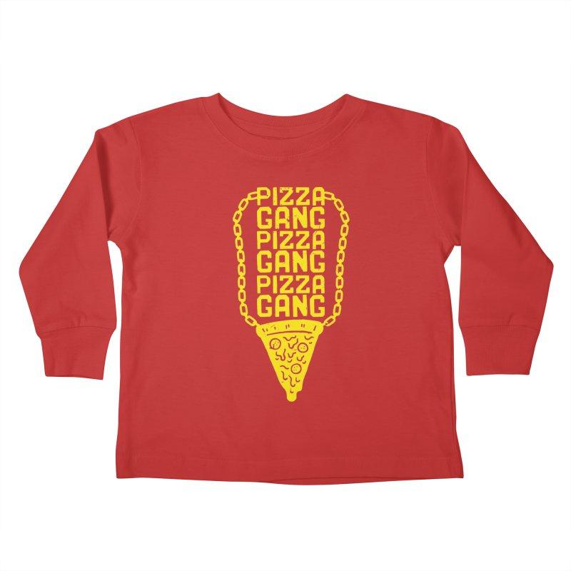 Pizza Gang Pizza Gang Pizza Gang Kids Toddler Longsleeve T-Shirt by Rupertbeard