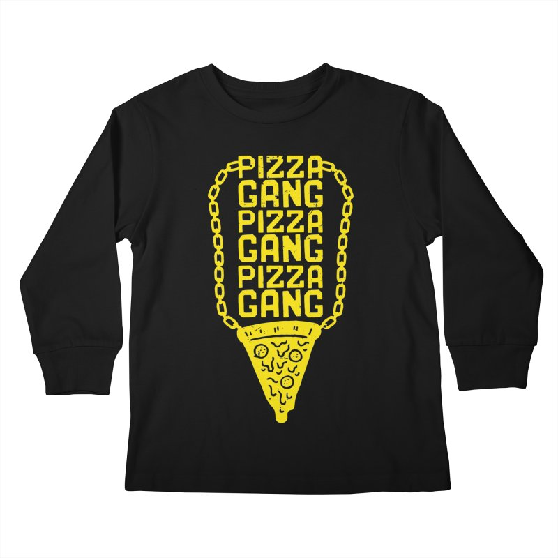 Pizza Gang Pizza Gang Pizza Gang Kids Longsleeve T-Shirt by Rupertbeard