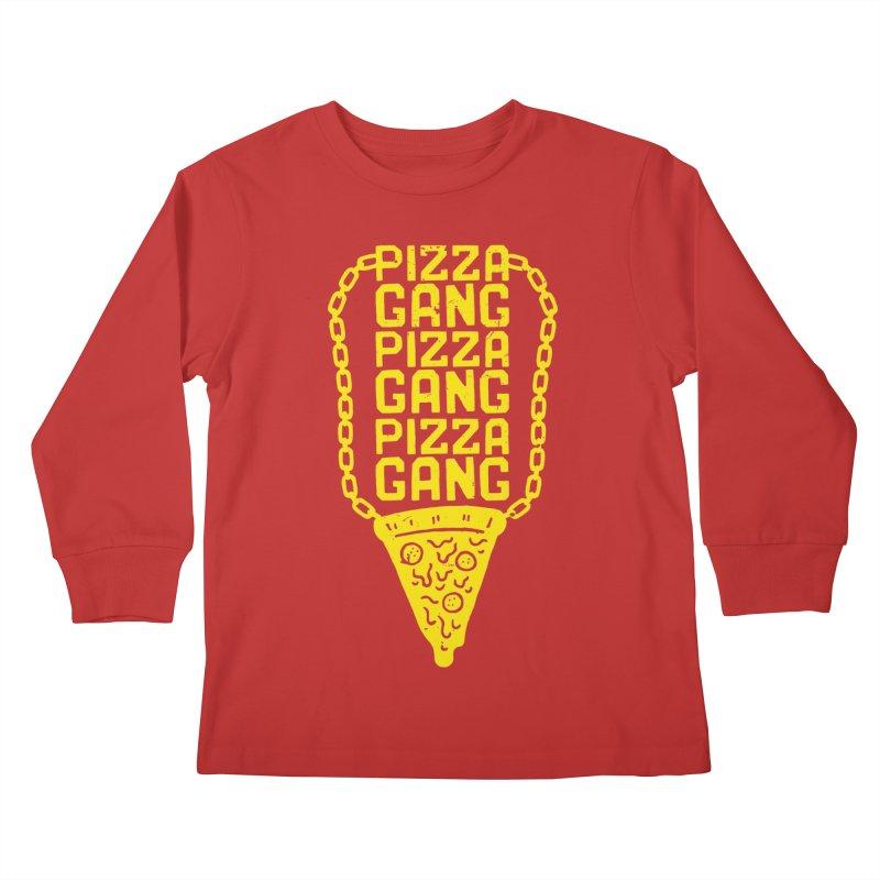 Pizza Gang Pizza Gang Pizza Gang Kids Longsleeve T-Shirt by Rupertbeard