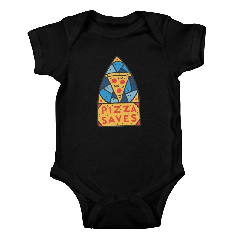 Pizza Saves Kids Baby Bodysuit by Rupertbeard