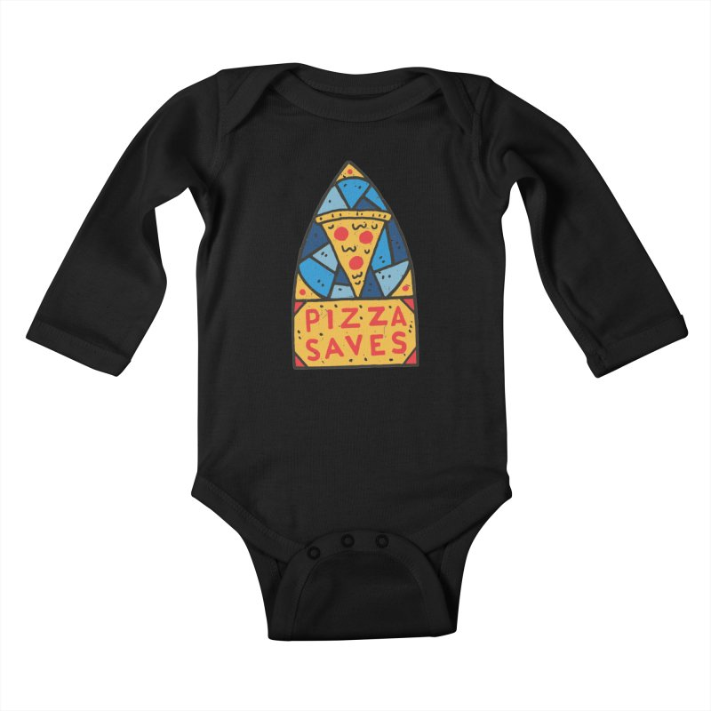 Pizza Saves Kids Baby Longsleeve Bodysuit by Rupertbeard