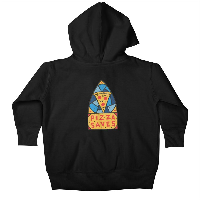 Pizza Saves Kids Baby Zip-Up Hoody by Rupertbeard