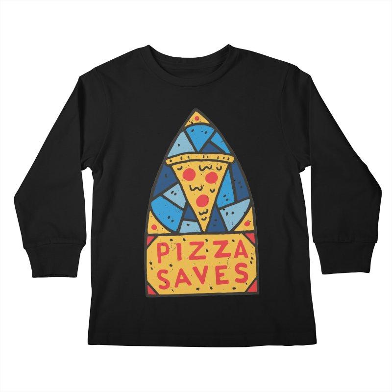 Pizza Saves Kids Longsleeve T-Shirt by Rupertbeard