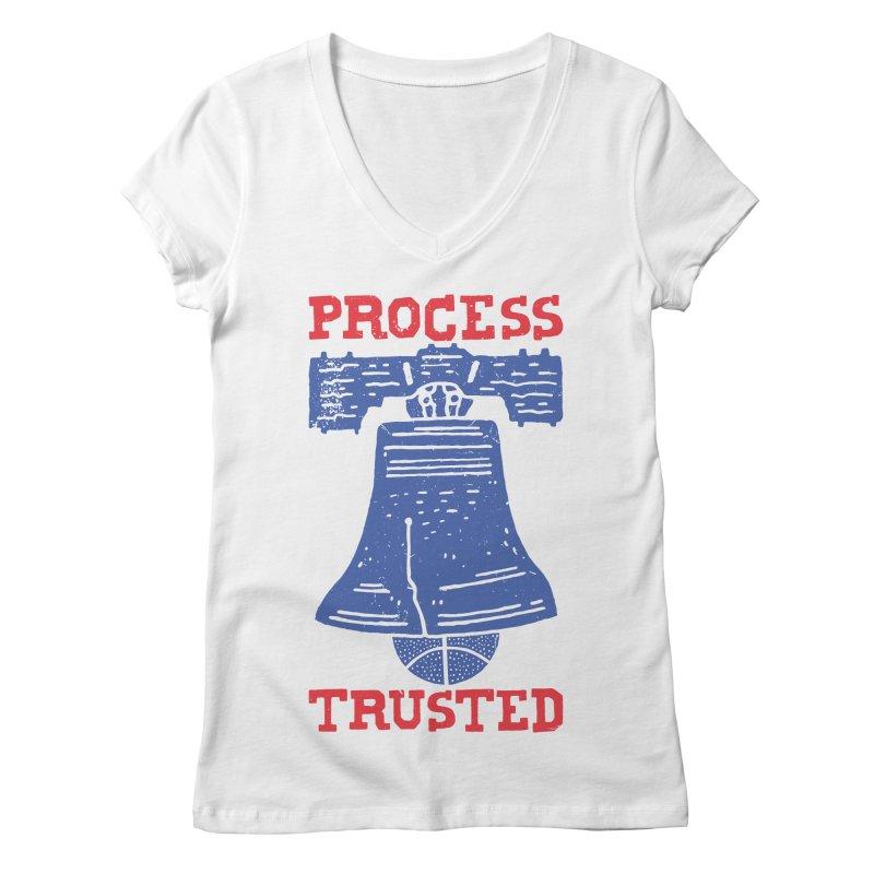 Process Trusted Women's V-Neck by Rupertbeard