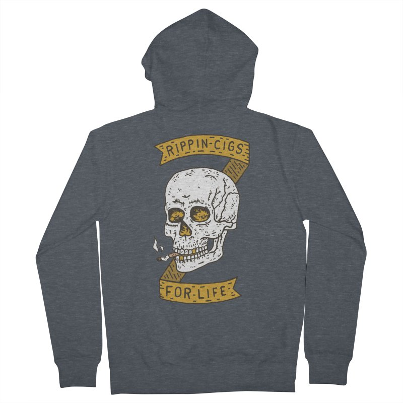 Rippin Cigs For Life Men's Zip-Up Hoody by Rupertbeard