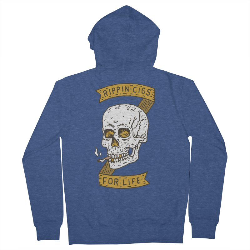 Rippin Cigs For Life Men's French Terry Zip-Up Hoody by Rupertbeard