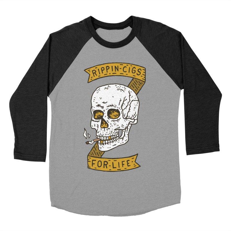Rippin Cigs For Life Men's Baseball Triblend Longsleeve T-Shirt by Rupertbeard