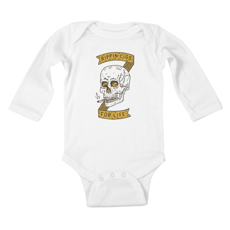 Rippin Cigs For Life Kids Baby Longsleeve Bodysuit by Rupertbeard