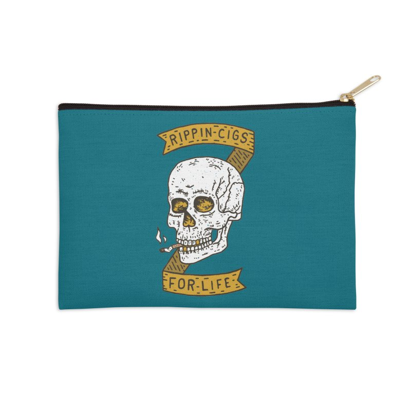 Rippin Cigs For Life Accessories Zip Pouch by Rupertbeard