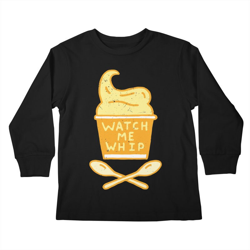 Watch Me Whip Kids Longsleeve T-Shirt by Rupertbeard