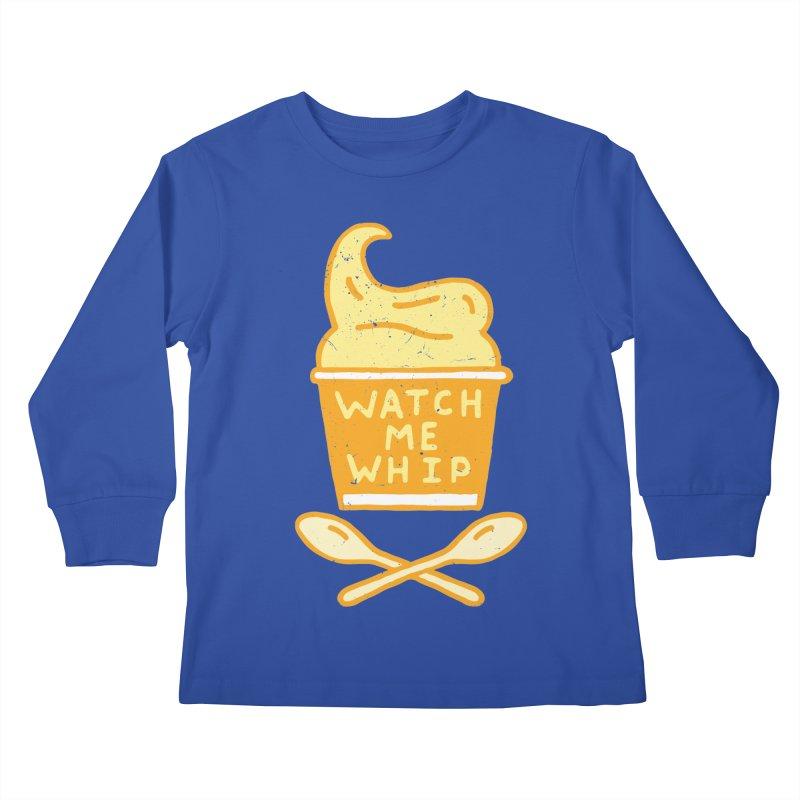Watch Me Whip Kids Longsleeve T-Shirt by Rupertbeard