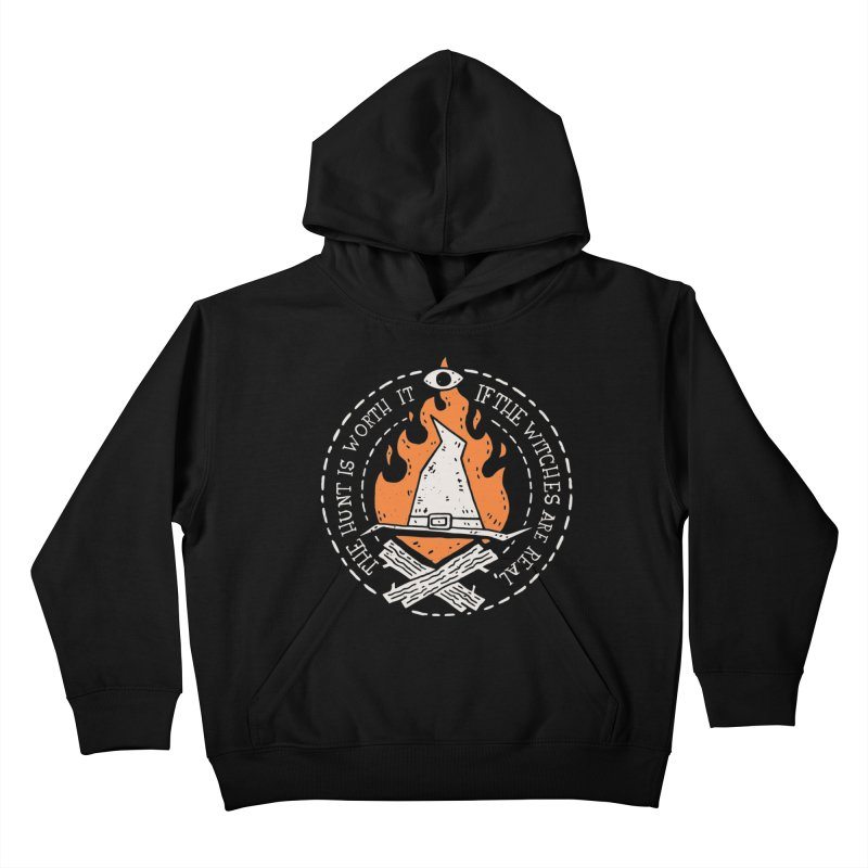 The Witch Hunt Is Real Kids Pullover Hoody by Rupertbeard