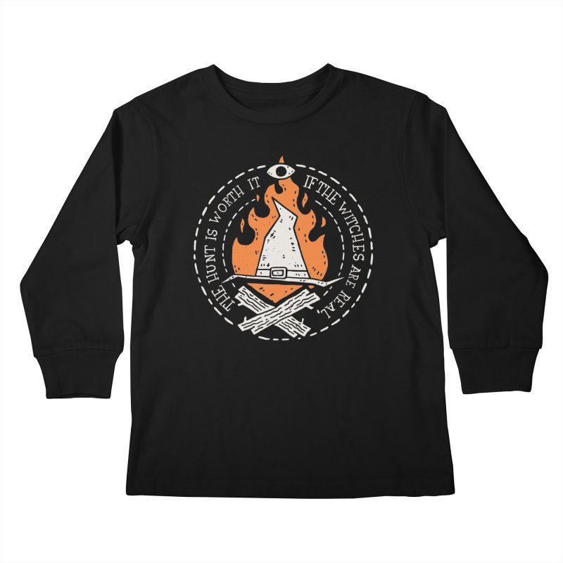 The Witch Hunt Is Real Kids Longsleeve T-Shirt by Rupertbeard