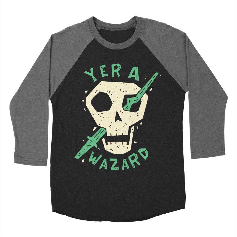 Yer A Wazard Men's Baseball Triblend T-Shirt by Rupertbeard