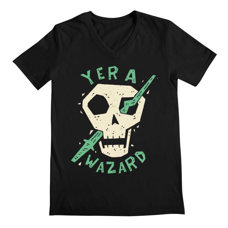 Yer A Wazard Men's Regular V-Neck by Rupertbeard