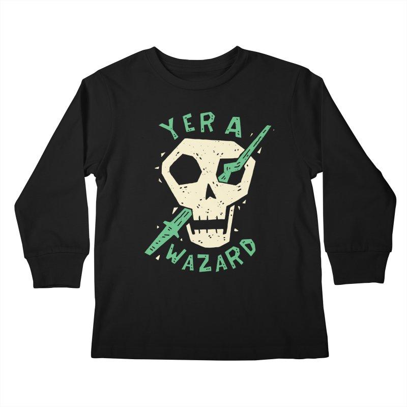 Yer A Wazard Kids Longsleeve T-Shirt by Rupertbeard