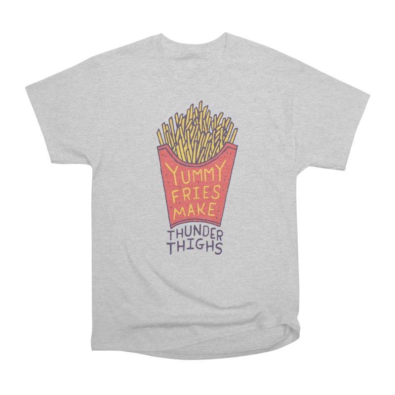 Yummy Fries Make Thunder Thighs Men's T-Shirt by Rupertbeard