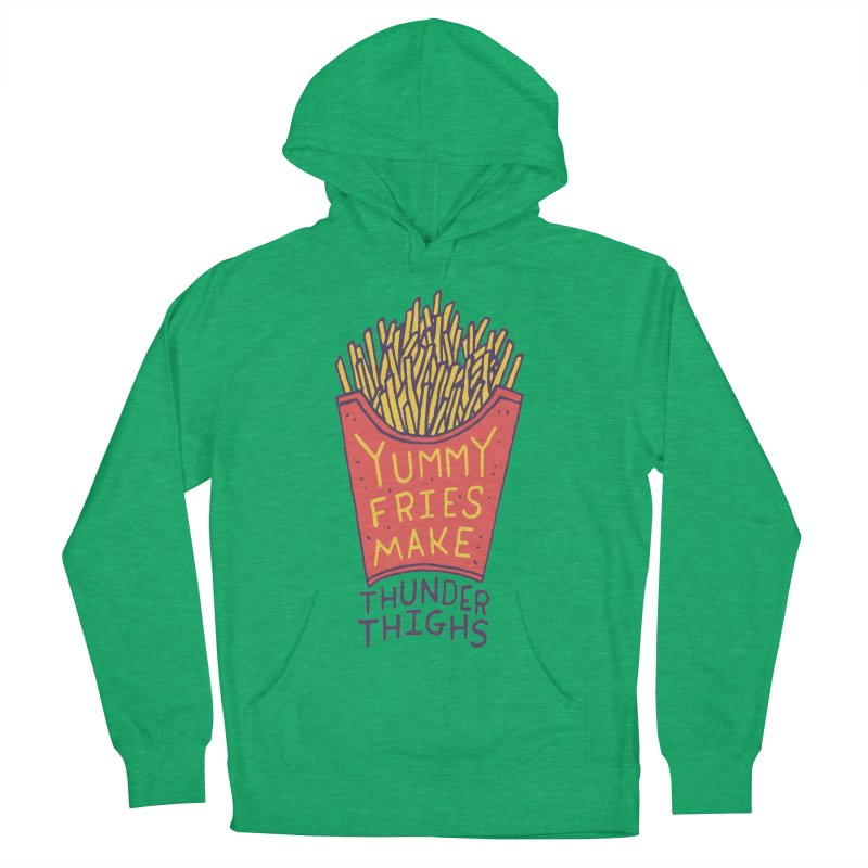 Yummy Fries Make Thunder Thighs Men's French Terry Pullover Hoody by Rupertbeard