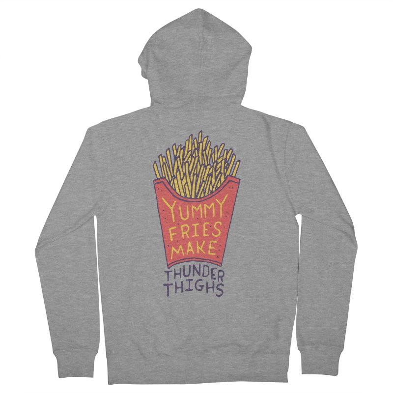 Yummy Fries Make Thunder Thighs Men's Zip-Up Hoody by Rupertbeard