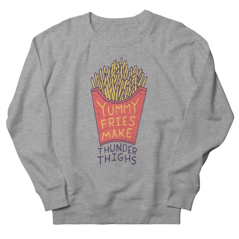 Yummy Fries Make Thunder Thighs Women's Sweatshirt by Rupertbeard