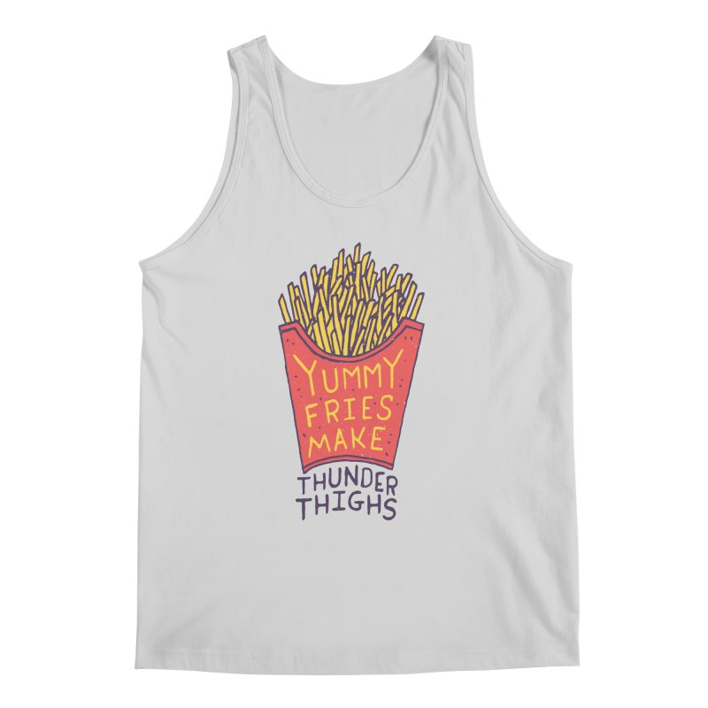 Yummy Fries Make Thunder Thighs Men's Tank by Rupertbeard