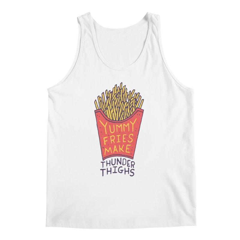 Yummy Fries Make Thunder Thighs Men's Regular Tank by Rupertbeard