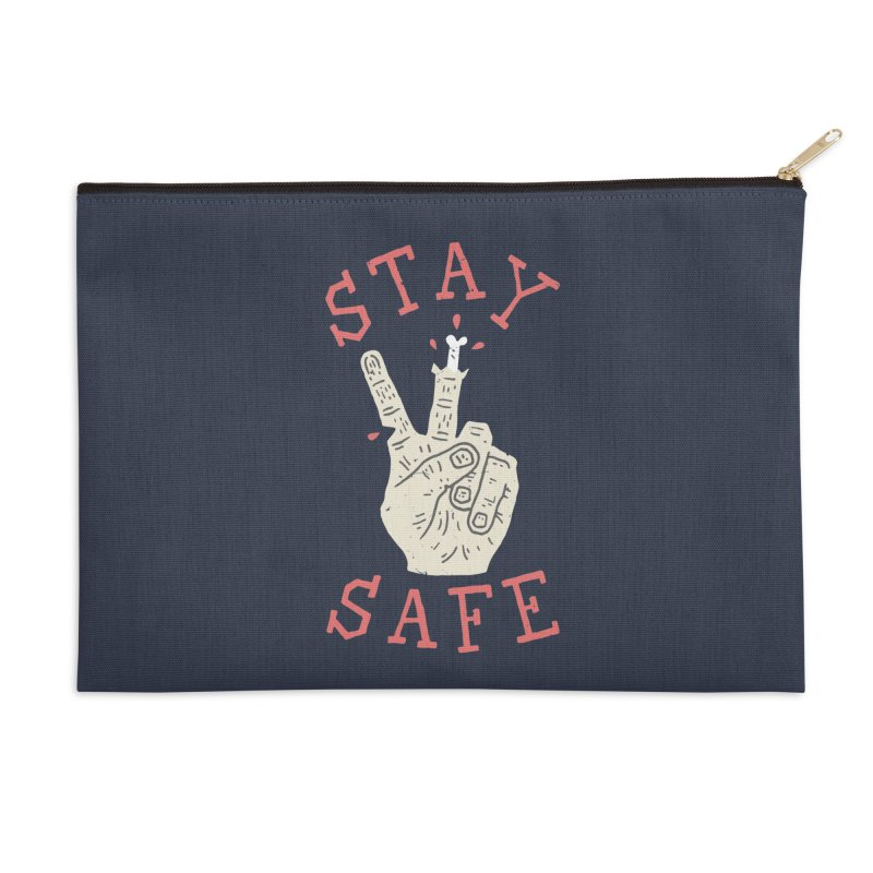 Stay Safe Accessories Zip Pouch by Rupertbeard
