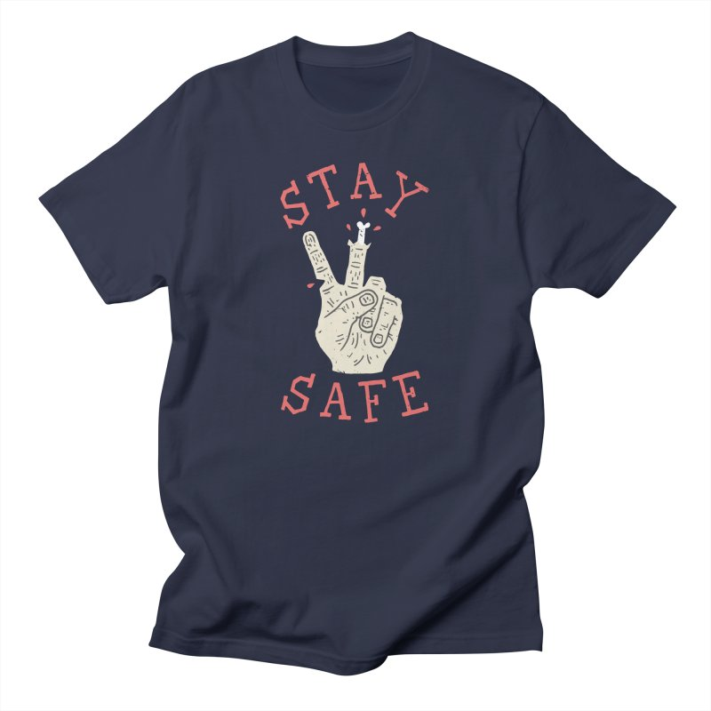 Stay Safe Men's Regular T-Shirt by Rupertbeard