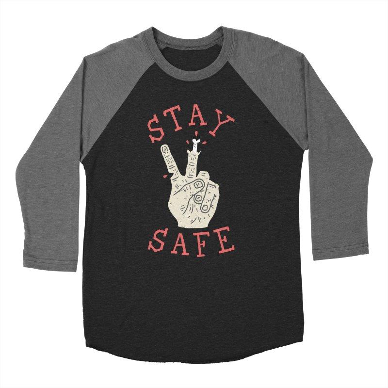 Stay Safe Women's Baseball Triblend T-Shirt by Rupertbeard