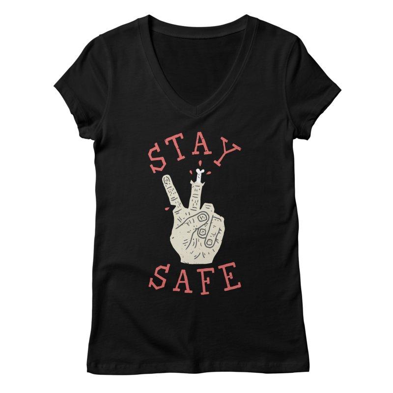 Stay Safe Women's Regular V-Neck by Rupertbeard