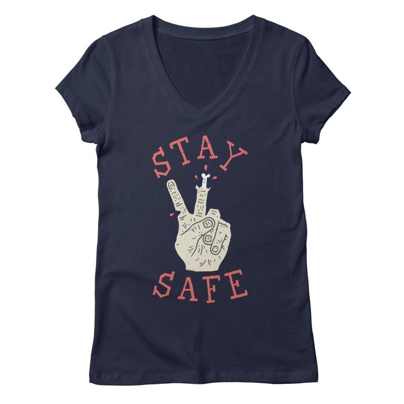 Stay Safe Women's V-Neck by Rupertbeard