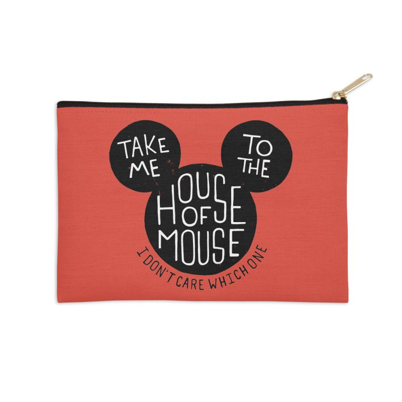 Take Me To The House Of Mouse Accessories Zip Pouch by Rupertbeard