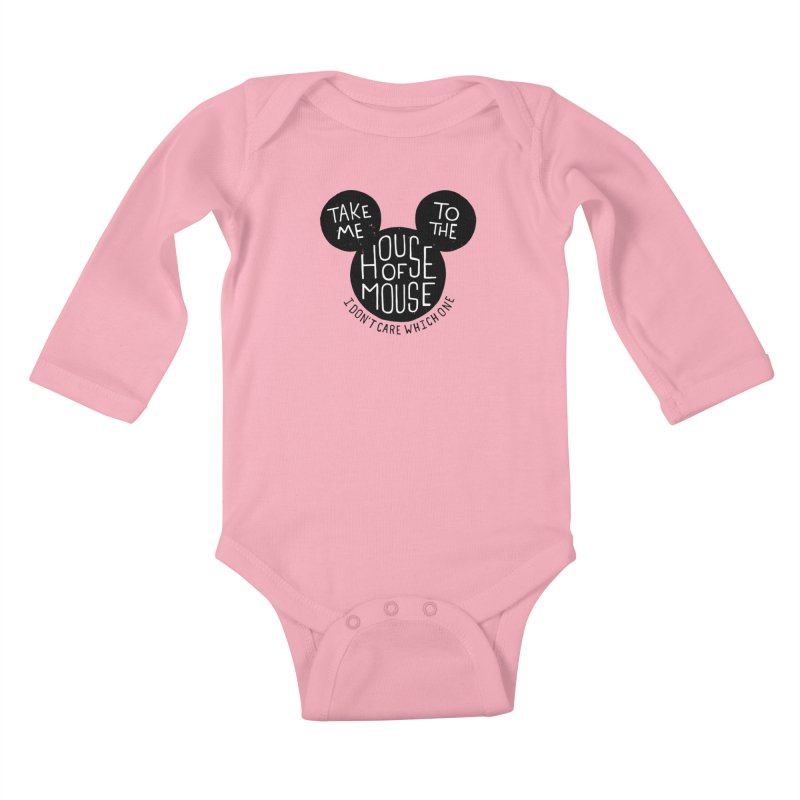 Take Me To The House Of Mouse Kids Baby Longsleeve Bodysuit by Rupertbeard