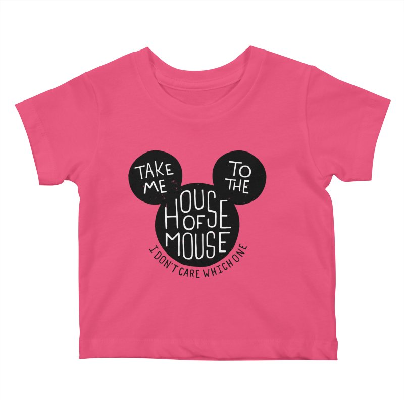 Take Me To The House Of Mouse Kids Baby T-Shirt by Rupertbeard