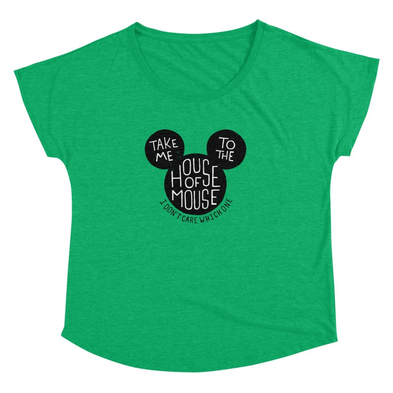 Take Me To The House Of Mouse Women's Dolman Scoop Neck by Rupertbeard