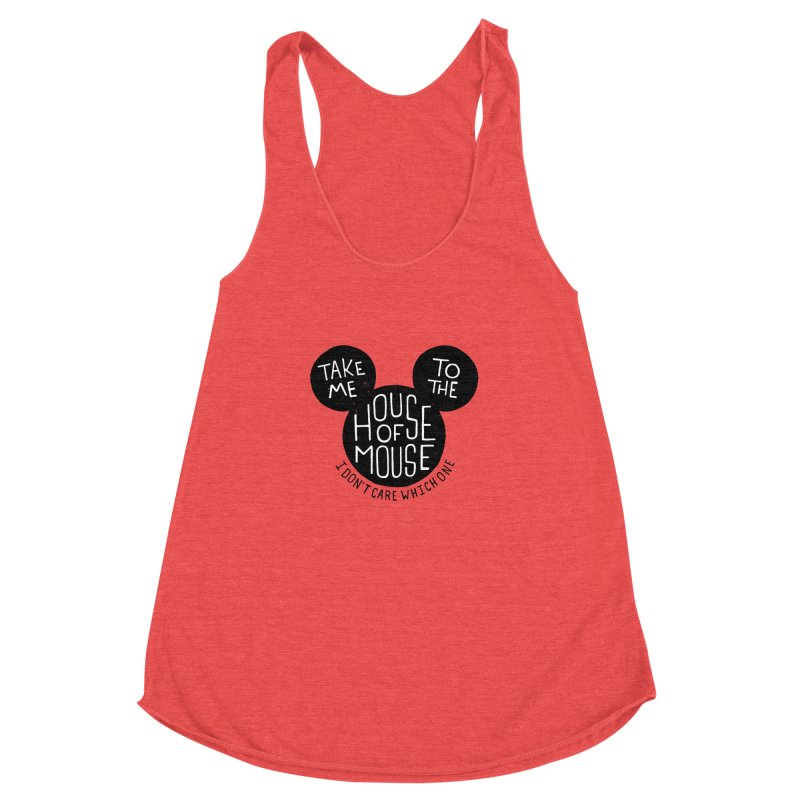 Take Me To The House Of Mouse Women's Racerback Triblend Tank by Rupertbeard