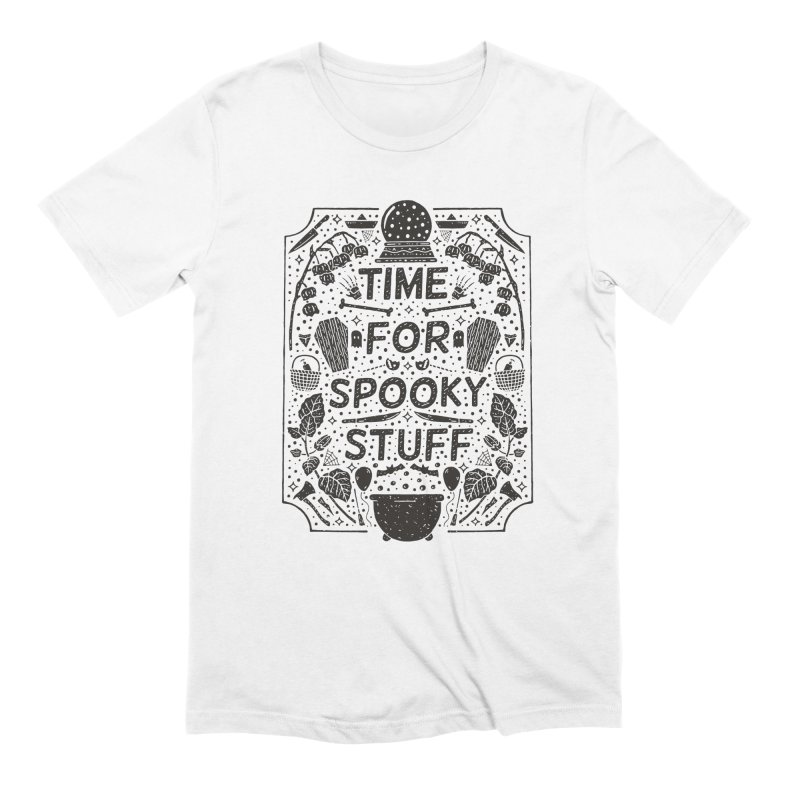 Time For Spooky Stuff (black) Men's Extra Soft T-Shirt by Rupertbeard