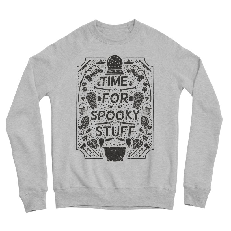 Time For Spooky Stuff (black) Men's Sponge Fleece Sweatshirt by Rupertbeard