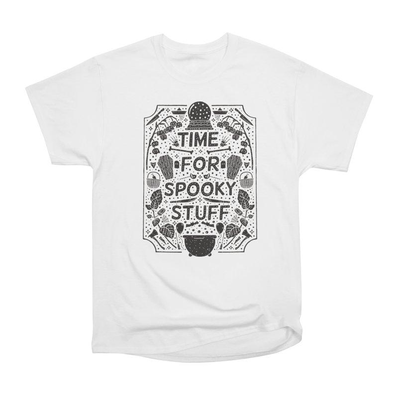 Time For Spooky Stuff (black) Men's Heavyweight T-Shirt by Rupertbeard