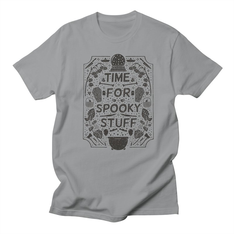 Time For Spooky Stuff (black) Men's Regular T-Shirt by Rupertbeard