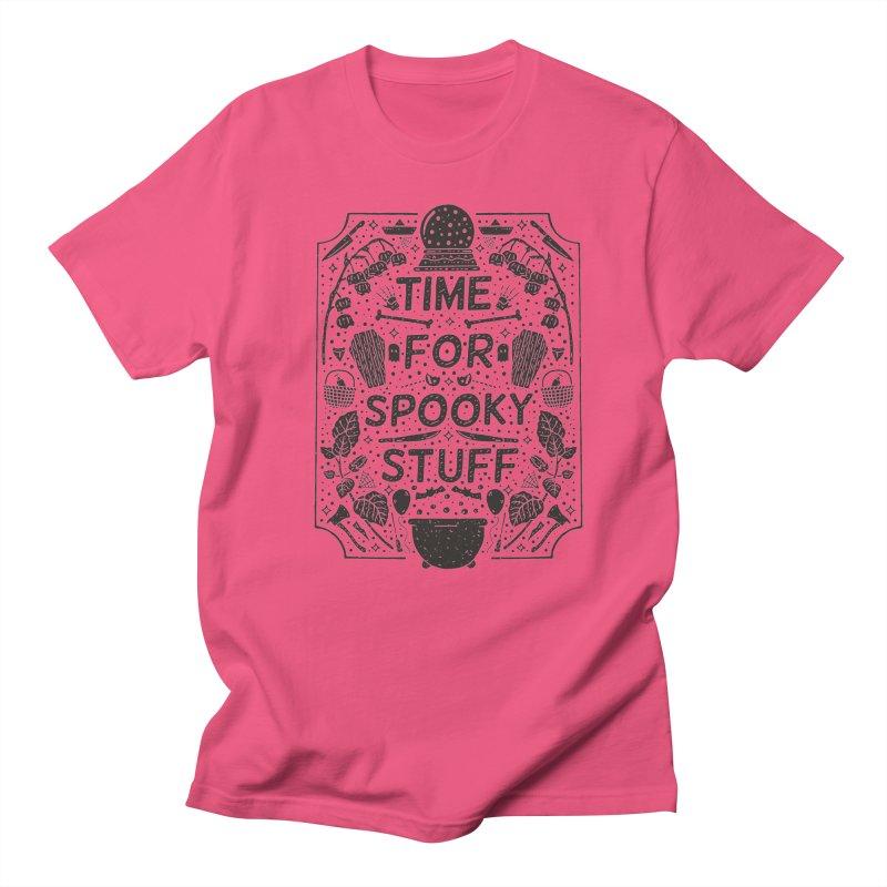 Time For Spooky Stuff (black) Women's Regular Unisex T-Shirt by Rupertbeard